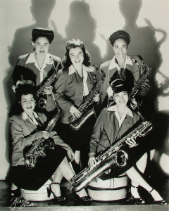 Sax section, International Sweethearts of Rhythm (credit: thegirlsintheband.com)